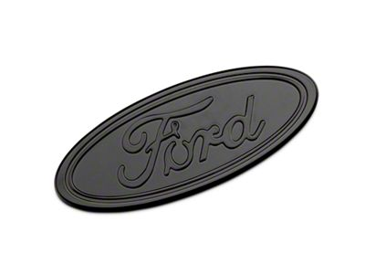 Defenderworx Ford Oval Grille or Tailgate Emblem - Gloss Blackout (04-14 F-150 w/o Backup Camera)