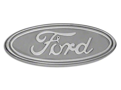 Defenderworx Ford Oval Grille or Tailgate Emblem - Gloss White (04-14 F-150 w/o Backup Camera)