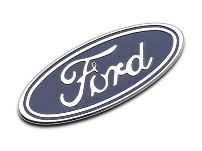 Defenderworx Ford Oval Grille or Tailgate Emblem - Blue (04-14 F-150 w/o Backup Camera)
