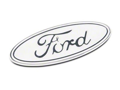 Defenderworx Ford Oval Tailgate Emblem - Gloss White (15-19 F-150)