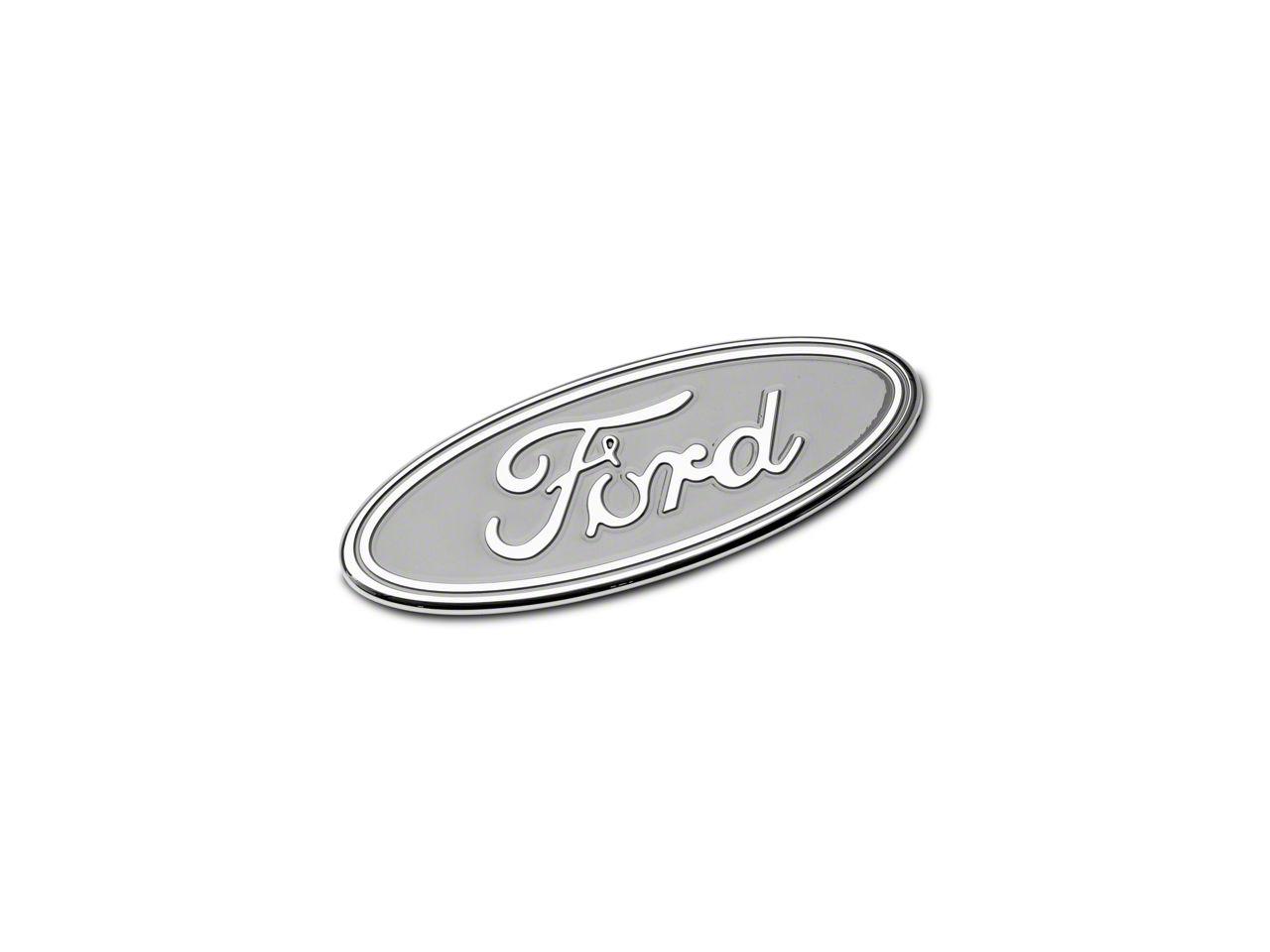 Defenderworx Ford Oval Grille Emblem - Silver (15-18 F-150, Excluding Raptor)