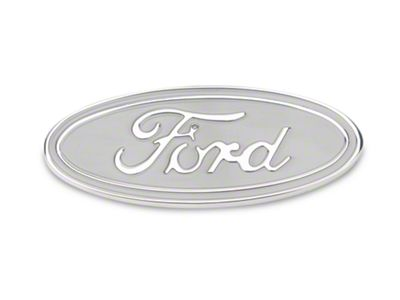 Defenderworx Ford Oval Tailgate Emblem - Silver (15-19 F-150)