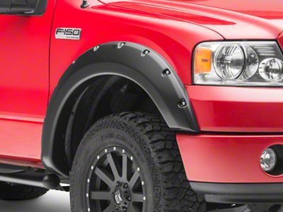 Rough Country Pocket Style Fender Flares - Flat Black (04-08 F-150 Styleside)