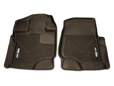 Husky X-Act Contour Front Floor Liners - Cocoa (15-18 F-150 SuperCab, SuperCrew)