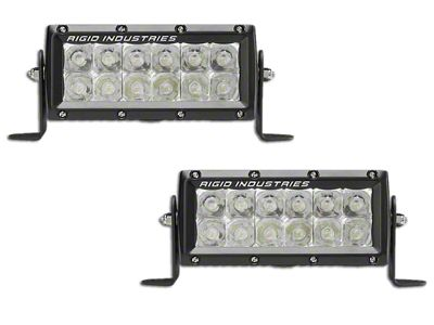 Rigid Industries 6 in. E-Mark E-Series LED Light Bars - Spot Beam - Pair
