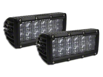 Rigid Industries 6 in. E-Series LED Light Bars - Driving Beam - Pair