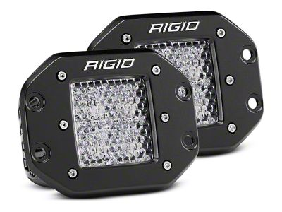 Rigid Industries D-Series Flush Mount LED Cube Lights - 60 Deg. Diffused Beam - Pair