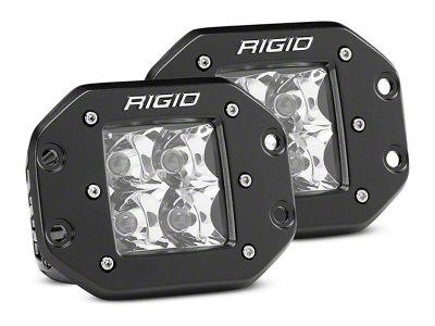 Rigid Industries D-Series Flush Mount LED Cube Lights - Spot Beam - Pair