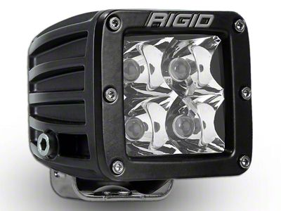Rigid Industries D-Series HD Amber LED Cube Light w/ Yellow Surround - Spot Beam
