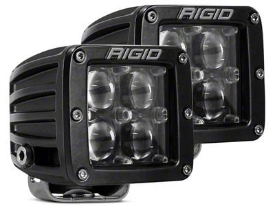 Rigid Industries D-Series LED Cube Lights - Hyperspot Beam - Pair