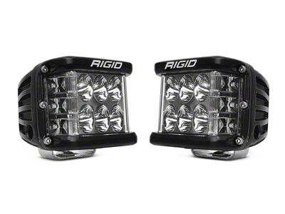 Rigid Industries D-SS Side Shooter Cube Lights - Driving Beam - Pair