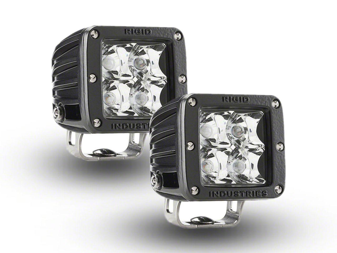 Rigid Industries E-Mark Dually LED Cube Lights - Spot Beam - Pair