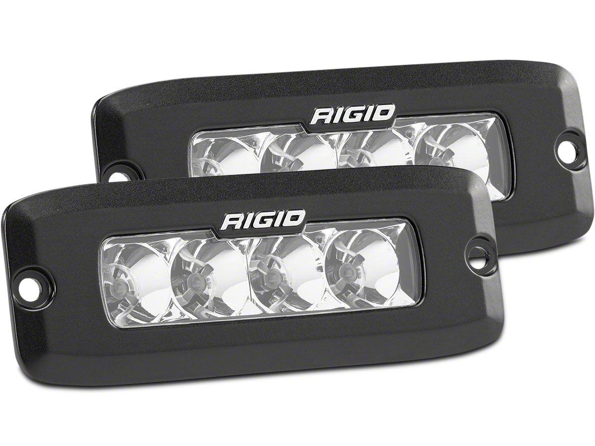 Rigid Industries SR-Q Series Flush Mount Amber LED Light Bars - Spot Beam - Pair