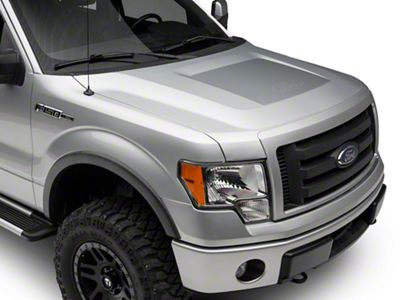 Silver Hood Decal w/ Ford Logo (09-14 F-150, Excluding Raptor)