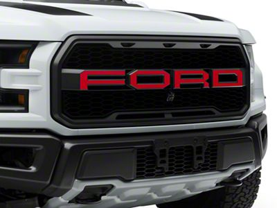 Red Front Grille Ford Lettering (17-19 F-150 Raptor)