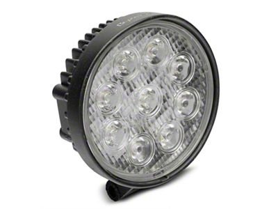 Alteon 4 in. Work Visor 9 LED Round Light - 30 Degree Flood Beam