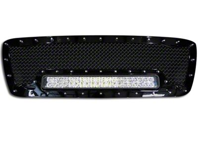 Royalty Core RC1X Incredible Upper Replacement Grille w/ 19 in. LED Light Bar - Black (04-08 F-150)