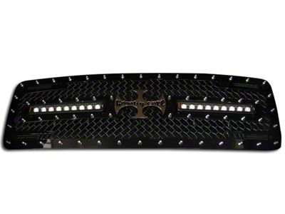 Royalty Core RC2X X-Treme Upper Replacement Grille w/ Dual 12 in. LED Lights Bars - Black (13-14 F-150, Excluding Raptor)