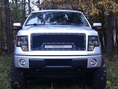 Royalty Core RCRX Race Line Upper Replacement Grille w/ 23 in. LED Light Bar - Black (09-12 F-150, Excluding Raptor)