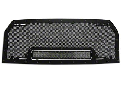 Royalty Core RCRX Race Line Upper Replacement Grille w/ 23 in. LED Light Bar - Black (15-17 F-150, Excluding Raptor)