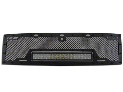 Royalty Core RCRX Race Line Upper Replacement Grille w/ 23 in. LED Light Bar - Black (10-14 F-150 Raptor)