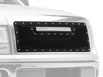 Royalty Core RCRX Race Line Upper Replacement Grille w/ Top Mounted 23 in. LED Light Bar - Black (09-12 F-150, Excluding Raptor)