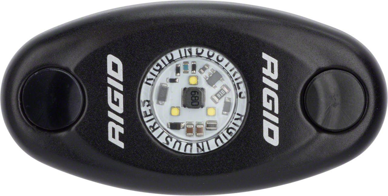 Rigid Industries Black A-Series High Power LED Light - Red