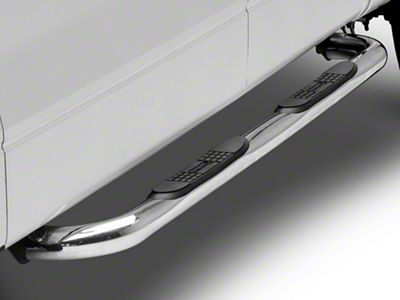 Black Horse Off Road 3 in. Round Side Step Bars - Stainless Steel (09-14 F-150 SuperCab, SuperCrew)