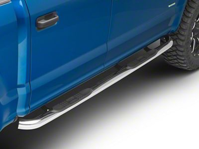 Black Horse Off Road 3 in. Round Side Step Bars - Stainless Steel (15-19 F-150 SuperCab, SuperCrew)