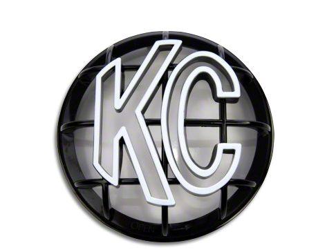 KC HiLiTES 5 in. Round Stone Guard for Apollo Series - Black w/ White KC Logo (97-19 F-150)