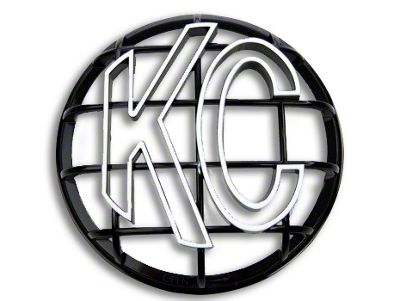KC HiLiTES 6 in. Round Stone Guard for Apollo Series - Black w/ White KC Logo (97-19 F-150)