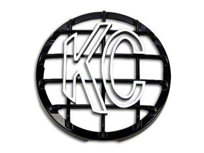 KC HiLiTES 6 in. Round Stone Guard for Daylighter & Slimlite - Black w/ White KC Logo (97-18 F-150)