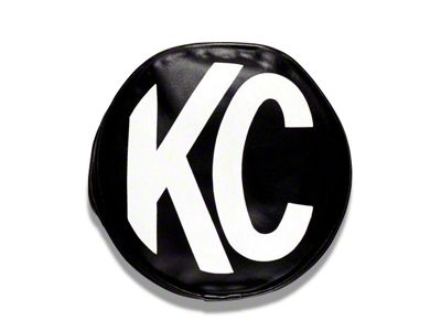 KC HiLiTES 8 in. Soft Vinyl Cover for Round Lights - Black (97-18 F-150)