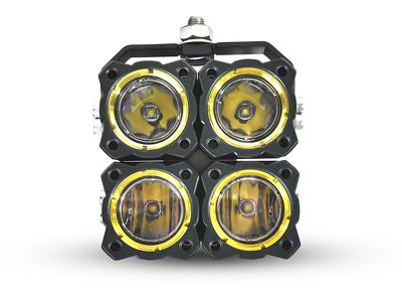 KC HiLiTES Flex Quad LED Light Combo - Spot & Spread Beam