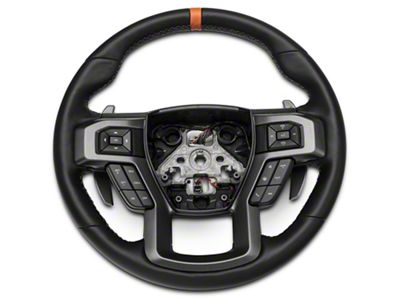 Ford Performance Raptor Leather Steering Wheel Kit w/ Orange Sightline (15-19 F-150)