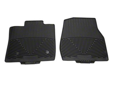 Weathertech All Weather Front Rubber Floor Mats - Black (15-19 F-150 Regular Cab)