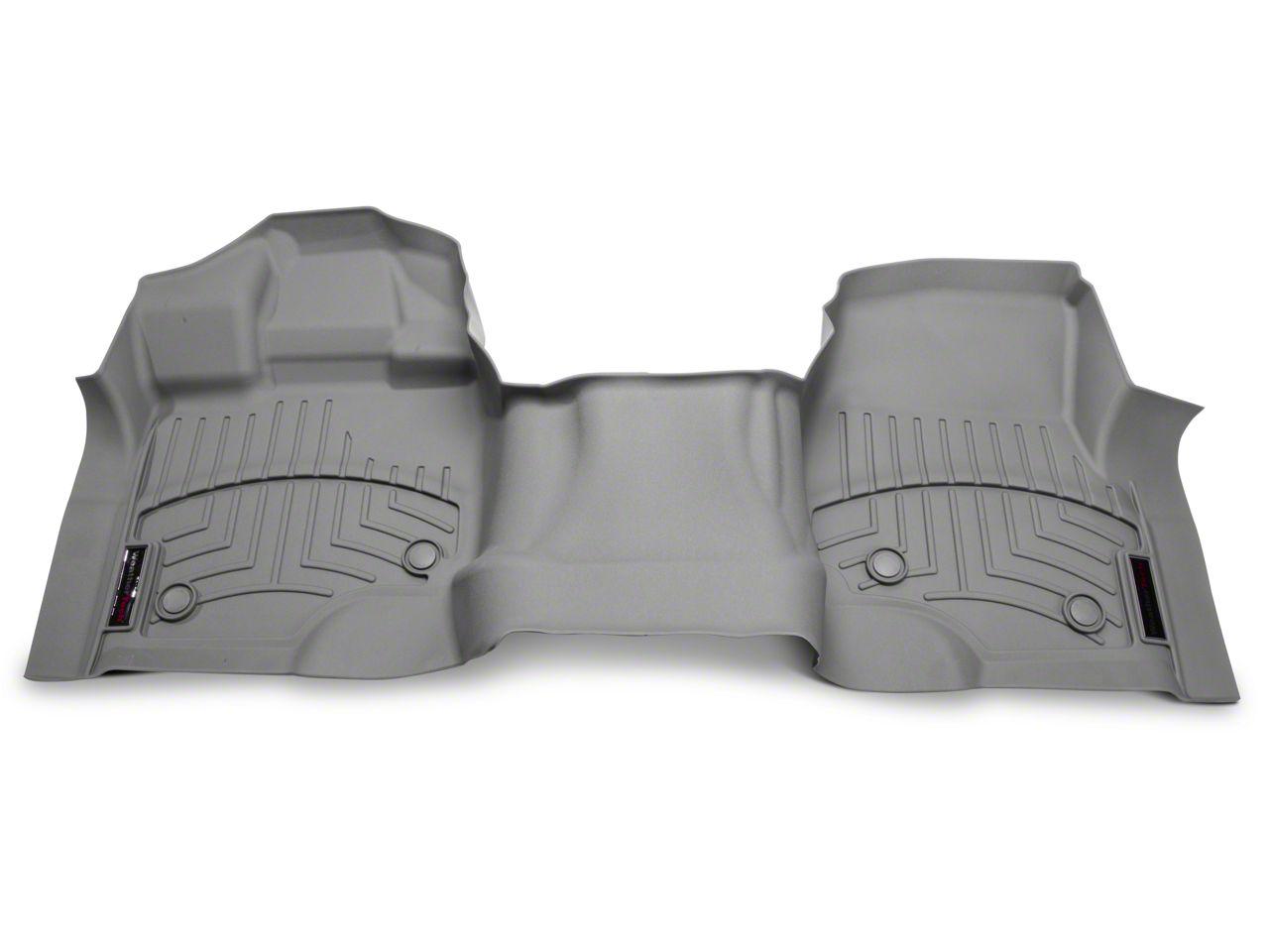 Weathertech DigitalFit Front Over The Hump Floor Liner - Gray (15-19 F-150)