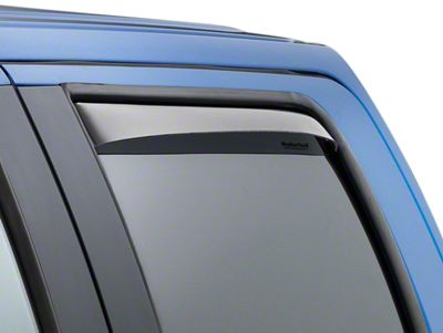 Weathertech Rear Side Window Deflectors - Light Smoke (04-08 F-150 Regular Cab; 04-14 F-150 SuperCab, SuperCrew)