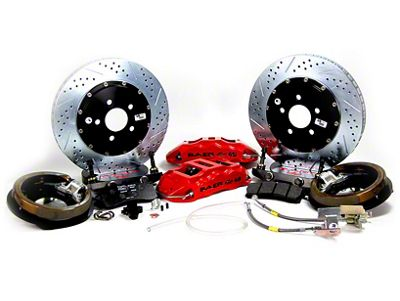 Baer Extreme Plus Rear Brake Kit w/ 2-Piece Rotors - Red (04-13 F-150)