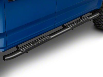 Steel Craft 4 in. Blackout Series Side Step Bars (15-18 F-150 SuperCab, SuperCrew)
