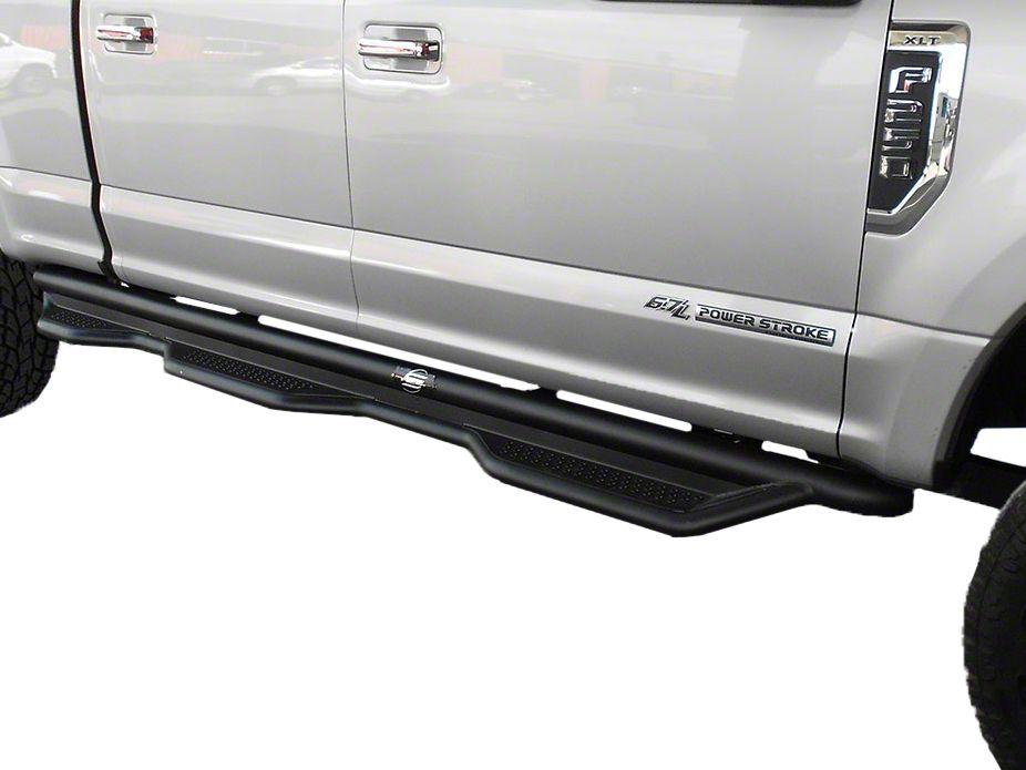 Steel Craft Heavy Duty Wheel-to-Wheel Side Step Bars - Semi-Gloss Black (15-18 F-150 SuperCrew w/ 6.5 ft. Bed)