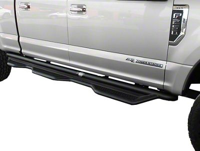 Steel Craft Heavy Duty Wheel-to-Wheel Side Step Bars - Textured Black (15-19 F-150 SuperCrew w/ 6.5 ft. Bed)