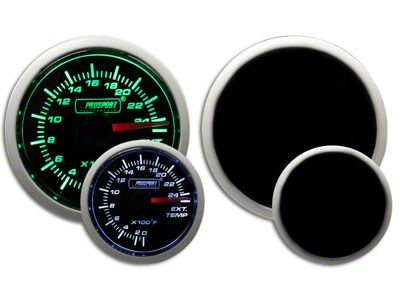 Prosport Dual Color Exhaust Gas Temperature Gauge - Green/White (97-18 F-150)