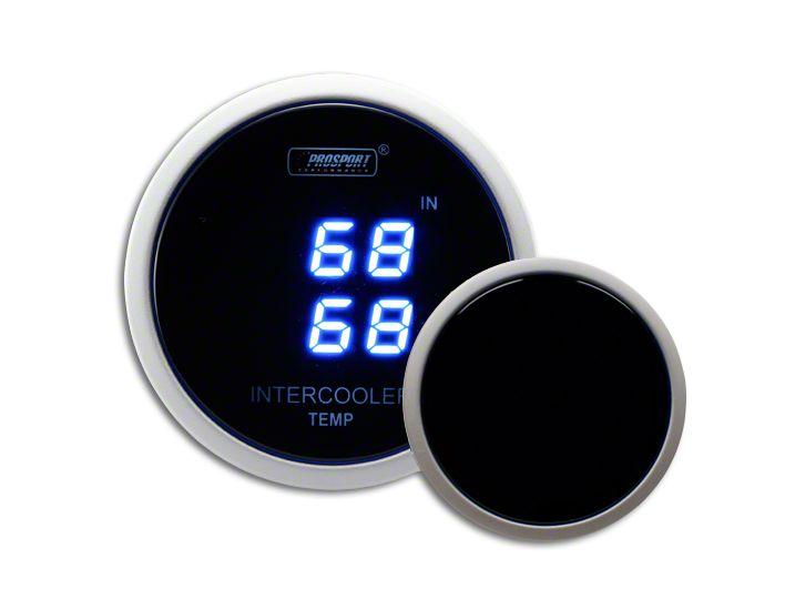 Prosport Dual Intercooler Digital Display Air Temperature Gauge - Blue (97-18 F-150)
