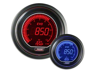 Prosport Dual Color Evo Exhaust Gas Temperature Gauge - Electrical - Red/Blue (97-19 F-150)