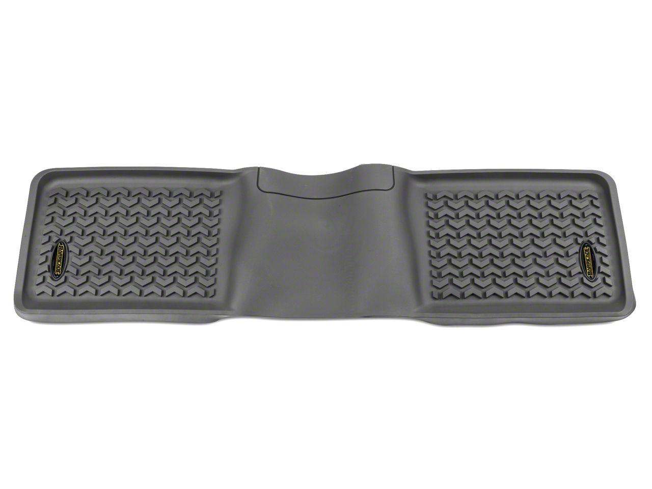 Barricade Rear Floor Liner - Gray (97-08 F-150 SuperCab; 04-08 F-150 SuperCrew)