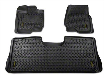 Barricade Front & Rear Floor Liners - Black (15-18 F-150 SuperCab, SuperCrew)