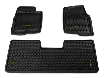 Barricade Front & Rear Floor Mats - Black (09-14 F-150 SuperCab, SuperCrew)