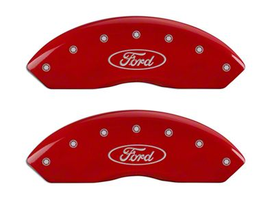 MGP Red Caliper Covers w/ Ford Oval Logo - Front & Rear (04-Early 09 F-150)