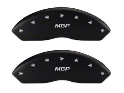 MGP Matte Black Caliper Covers w/ MGP Logo - Front & Rear (99-03 F-150 Lightning)